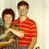 Myself with My Mom and My Cat